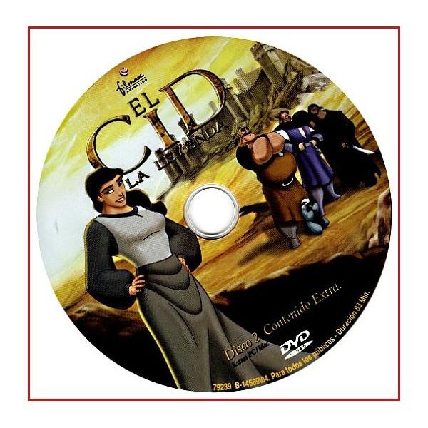 DISCO ORIGINAL EXTRA DVD EL CID LA LEYENDA
