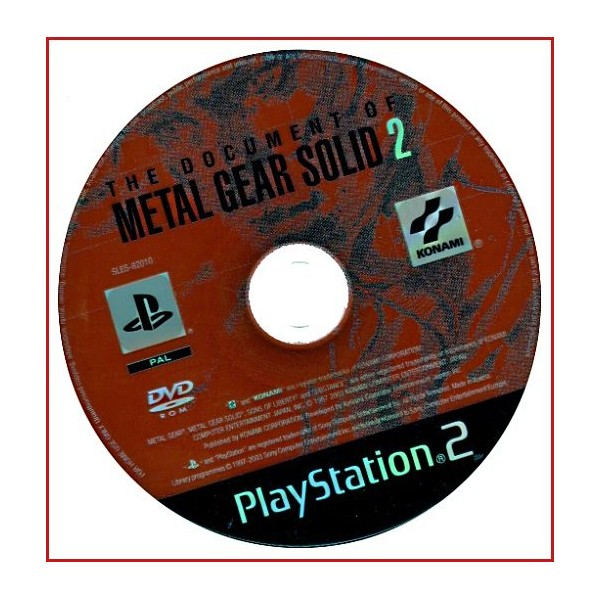 DISCO ORIGINAL EXTRA DVD THE DOCUMENT OF METAL GEAR SOLID 2