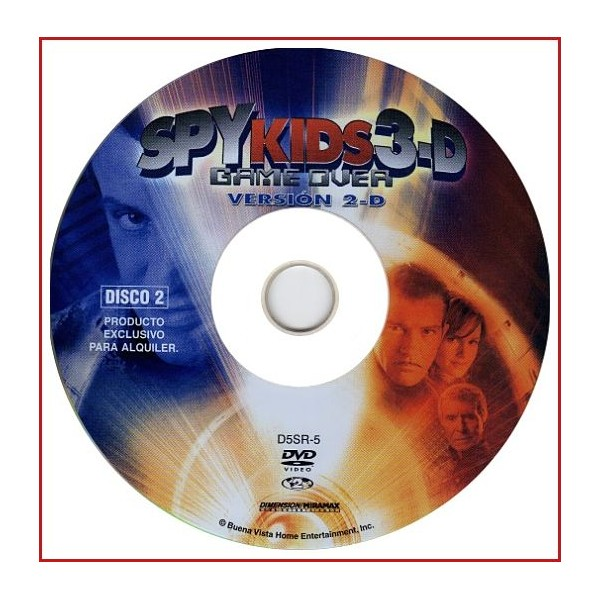 DISCO ORIGINAL EXTRA DVD SPY KIDS 3-D GAME OVER VERSIÓN 2-D
