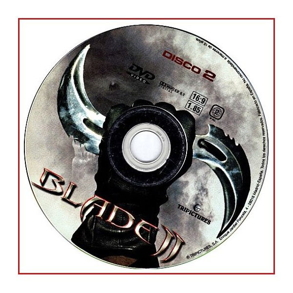 DISCO ORIGINAL EXTRA DVD BLADE II