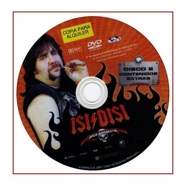 DISCO ORIGINAL EXTRA DVD ISI DISI AMOR A LO BESTIA