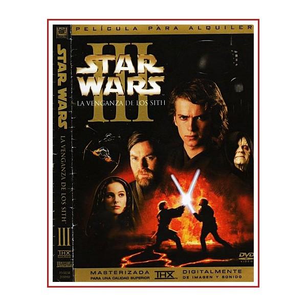 CARATULA ORIGINAL DVD STAR WARS EPISODIO III LA VENGANZA DE LOS SITH