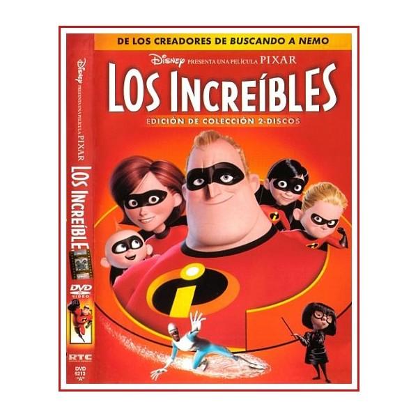 CARATULA DVD LOS INCREÍBLES EDICIÓN ESPECIAL 2 DISCOS