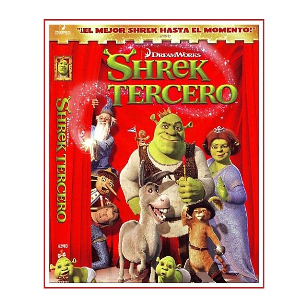 SHREK TERCERO DVD 2007 Dirección Chris Miller-Raman Hui