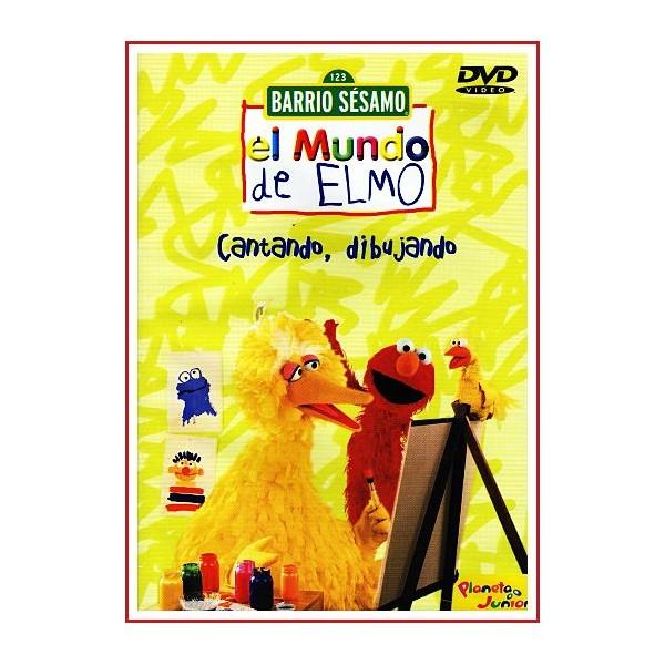 BARRIO SÉSAMO EL MUNDO DE ELMO CANTANDO, DIBUJANDO DVD 2004