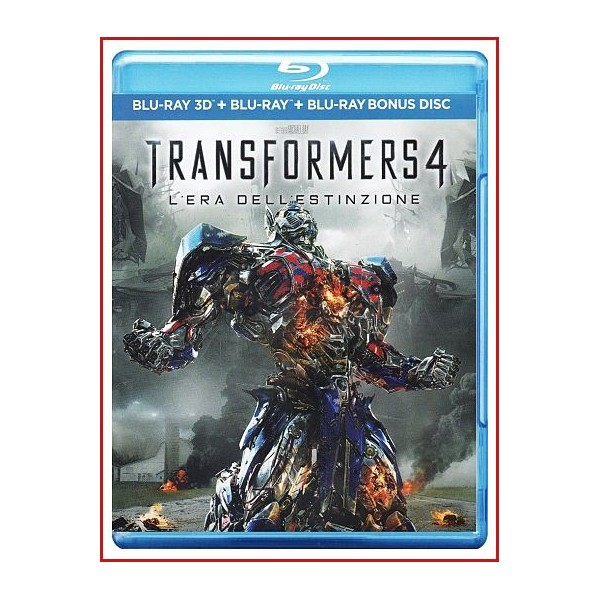 TRANSFORMERS 4 LA ERA DE LA EXTINCION 3D2D BLU RAY+DISCO EXTRAS