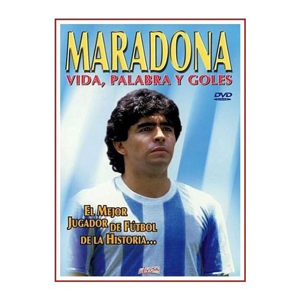 MARADONA VIDA, PALABRA Y GOLES DVD 2004 Biografia y Galeria