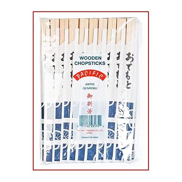 Unidades 40 x pares de palillos chinos desechables