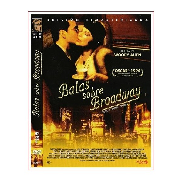 BALAS SOBRE BROADWAY DVD 1994 Teatro y Mafia de los Años 20 Dirigida por Woody Allen