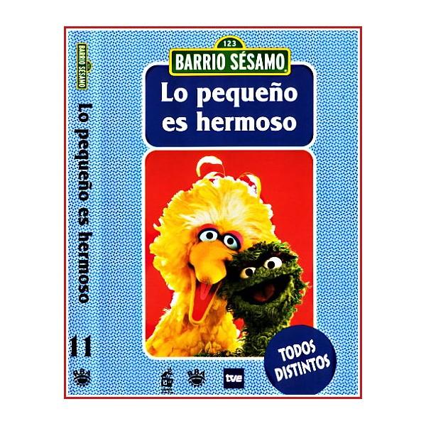 CARATULA ORIGINAL DVD LO BARRIO SÉSAMO LO PEQUEÑO ES HERMOSO