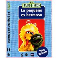 CARATULA DVD LO BARRIO SÉSAMO LO PEQUEÑO ES HERMOSO