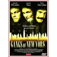 GANGS OF NEW YORK DVD 2002 Dirección Martin Scorsese