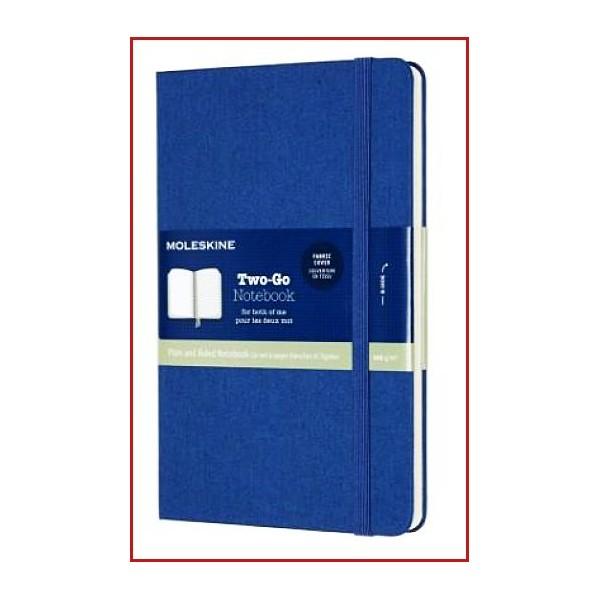 Cuaderno de Páginas Lisa y de Rayas-Tapa Dura en Tela y Goma Elástica