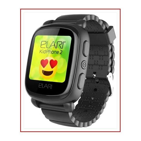Reloj Inteligente Negro Elari KidPhone 2 Almacenamiento digital 4 GB