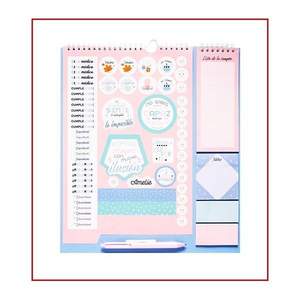 Planificador Familia Tamaño Único Organización - Calendario planificador de periodo escolar de septiembre de 2019 a diciembre de