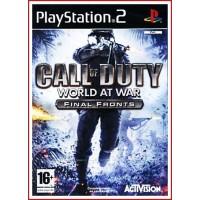 CALL OF DUTY WORLD AT WAR FINAL PS2 (Con Manual de Uso)