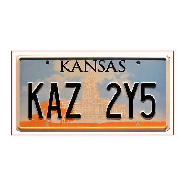 Matricula Kansas EEUU Supernatural KAZ 2Y5 Metal Stamped License Plate