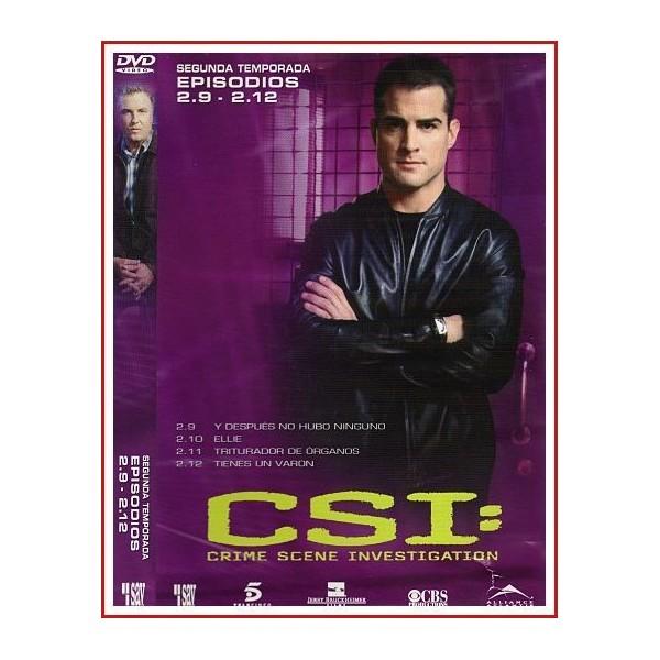 CSI: CRIME SCENE INVESTIGATION (TEMPORADA EPISODIOS 2.9 AL 2.12