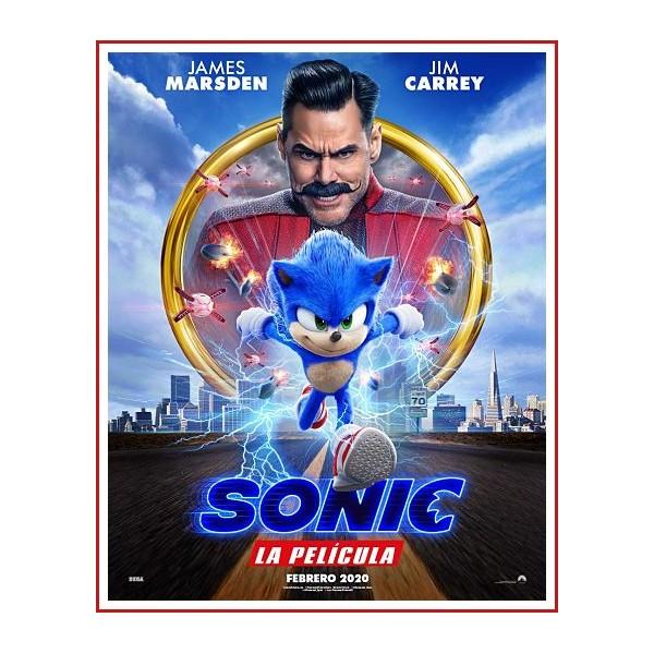 Sonic La Película (Sonic the Hedgehog) DVD 2020 Dirección Jeff Fowler