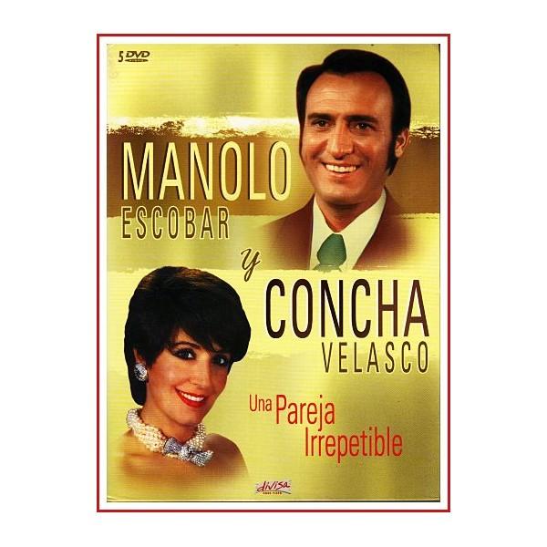 MANOLO ESCOBAR Y CONCHA VELASCO 5 DVD de 1967 a 1971