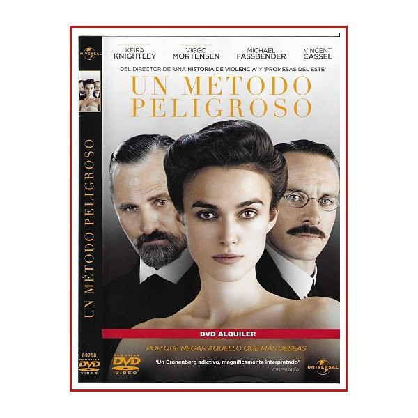 UN METODO PELIGROSO DVD Una poderosa historia de descubrimiento sexual e intelectual basada en acontecimientos reales...