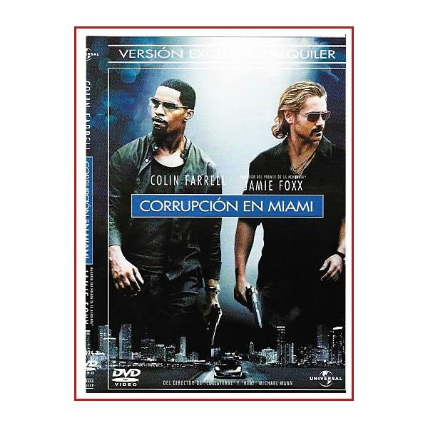 CARATULA ORIGINAL DVD CORRUPCIÓN EN MIAMI