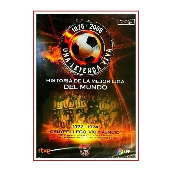 HISTORIA DE LA MEJOR LIGA DEL MUNDO 1972 - 1974 CRUYFF LLEGÓ, VIO Y VENCIÓ DVD 2008 - Militó diez temporadas en el primer equipo