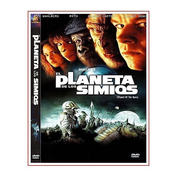 EL PLANETA DE LOS SIMIOS DVD 2001 Dirección Tim Burton
