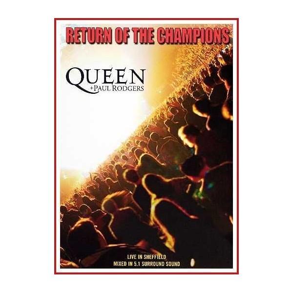 RETURN OF THE CHAMPIONS (QUEEN + PAUL RODGERS) 2005 DVD Gira concierto